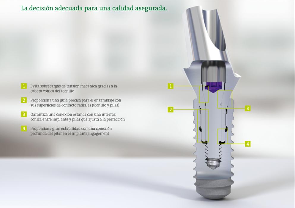 Conexión Implante-Pilar de la casa Straumann